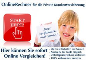Starte hier den PKV Online Rechner!